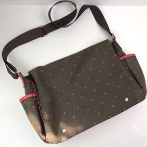 Kate Spade NY Brown Polka Dot Flap Diaper Bag